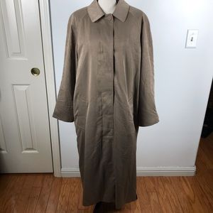 LONDON FOG TAUPE LONG TRENCH COAT